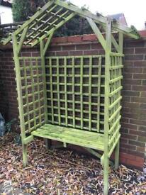 Wooden Garden Arbour/ Bench