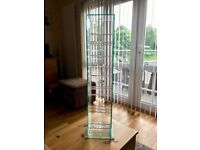 3 x Solid Glass CD Storage Racks each holding approx 70 CD's