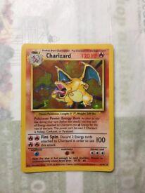 charizard hologram/shiny card