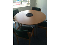 Table and Chairs, call centre pods