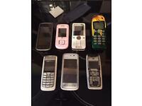 Mobile phone job lot, Nokia, Samsung retro