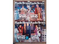 Doctor Who Radio Times x 4 - 40th Anniversary - Mint Condition