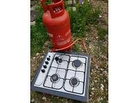Gas cooker top with gas bottle (cheap)