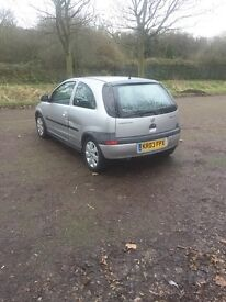 Vauxhall Corsa 1.2 Sxi 2003, damaged, spares or repairs, still driveable