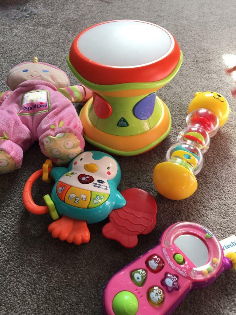 Collection of baby girls toys