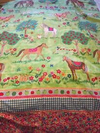 Lovely colourful unique single duvet cover ideal for pony / horse lover from a smoke free home
