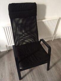 Ikea black armchair