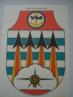 Volksmarine  Wappen der Küstenraketentruppen  15 cm  x 21 cm
