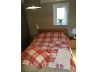 Laura Ashley Pink Light Red Check Double Bed set.