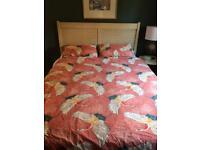 John Lewis Limed Oak Kingsize Bed Frame Oriental Chinese Headboard
