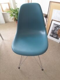 Replica Eames Eiffel chair in teal. Great condition.