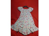 Lovely cotton summer dress by Tik Tak - butterfly print - Height 122 - age apx. 6-8 years