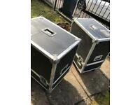 Nexo PS10 flight cases on wheels. £50 each
