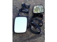 Extension mirrors for car towing a caravan