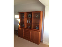 Teak Sideboard and Glass Cabinet