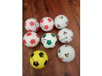 Football style golf balls