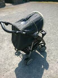 Graco lime and charcoal pram