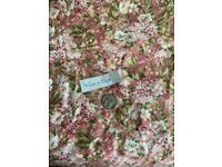 Vintage floral pink fabric