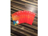Brand new iTunes gift cards.