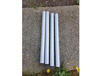 4x ikea silver metal table legs