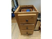 Four solid wood kitchen cupboards