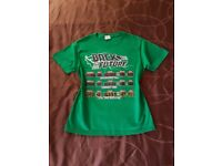 NEW Back to the Future Time Circuit Board Display Green Flux Capacitor T-Shirt