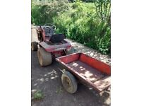Wheelhorse tractor and tipping trailer