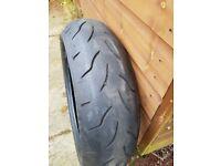 Bridgestone BT016R part worn tyre, 180/55ZR/17 73W.