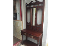 Hall Stand in good condition. Reproduction , good quality and design . Free local delivery.