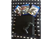 PS4 (Sony PlayStation) 500 GB with 3 games 1 controller .. No Box.. like new. Becton E16