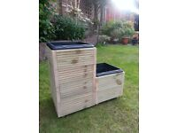 3pk Planters with plastic inserts - £35.00 for the 3 pack