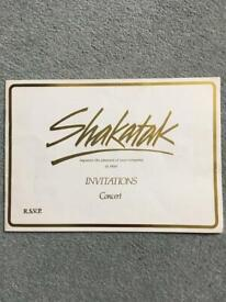 In great condition stored in plastic bag My own Shakatak Concert Programme Bournemouh