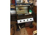 Gas BBQ & Broiler large cooking area