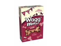 BNIB 5 x 400g Boxes of Wagg'Mmms Liver Dog Biscuits/Treats