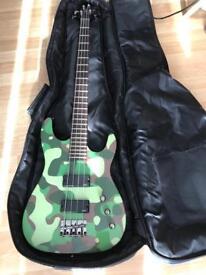 Adam black company bass guitar with gig bag excellent condition