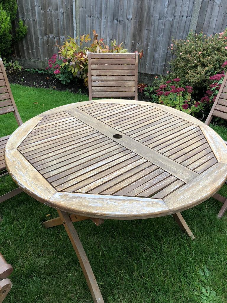 Homebase garden table and chairs