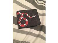 Black Gucci Snake Wallet