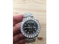 New stainless day date watch diamante rolex watch