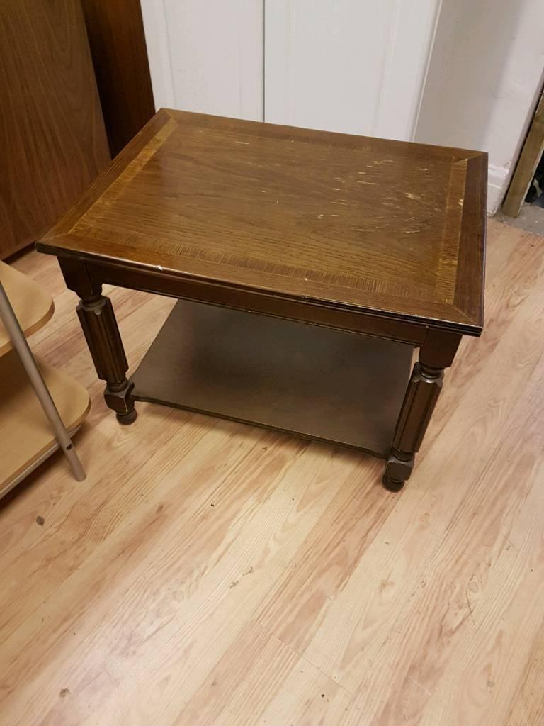Dark wood Side table