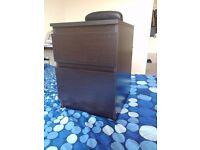 black bedside table, IKEA KULLEN Width: 35 cm Depth: 40 cm Height: 49 cm