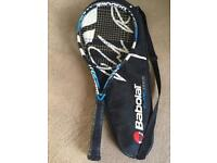 Babolat Pure Drive tennis racket.