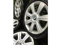 "MAKE ME AN OFFER!! 5x120 bmw alloys 17"" gd tyres 1 3 5 7 series m sport vivaro transporter traffic m"