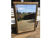 Antique gold colour bevelled mirror