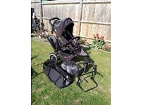 Phil & Teds Sport Pushchair with dual seat & accessories