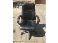 Leather Office Chair - Used: Good Condition