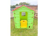 Outdoor playhouse child's plastic Wendy house with door