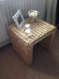 NEXT - Solid Wicker/Ratten Coffee/Side Table