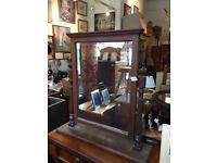 Large Mahogany Framed Dressing Table Mirror