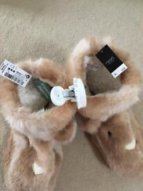 Brand new NEXT bunny boots/ lounge slippers size 5/6