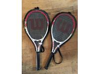 Wilson Roger Federer Adult Tennis Racket 2x plus HEAD tennis balls